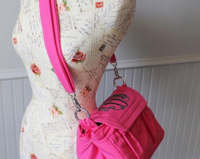 Custom Made to Order Medium Size Padded Digital Camera Bag & Strap Cover White Black Stripes Floral Rose Canon Nikon 55mm or 300mm Lens