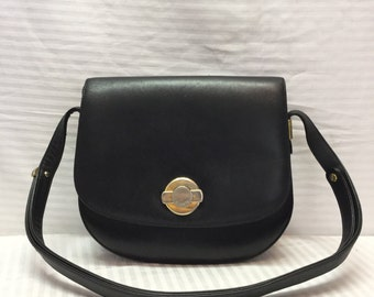 Stazione Elcanto, Saddle Bag, Leather Purse, Black, Leather, Bag, Purse, Shoulder Bag