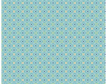 COZY CHRISTMAS - Wrapping Paper Blue -  Stars Cotton Quilt Fabric - C5367-BLUE - by Lori Holt for Riley Blake Designs Fabrics (W4319)