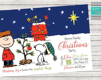 Christmas Party Invitation - Printable