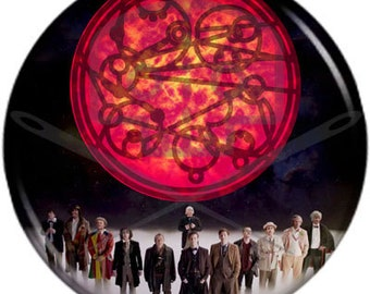 Doctor Who- Inspired AT LAST button in Gallifreyan