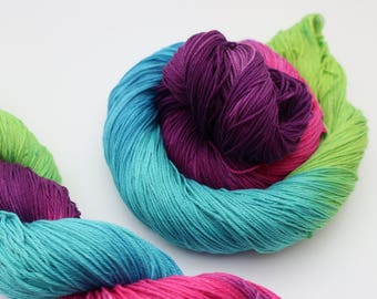 Pima cotton 4 ply hand dyed yarn