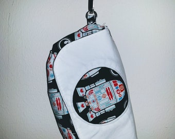 R2D2 Wristlet - Clutch Purse - Makeup Bag - Star Wars - Sugar Skull Droids - Geeky