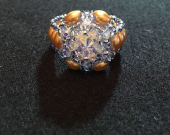 Swarovski Rivoli Beaded Ring