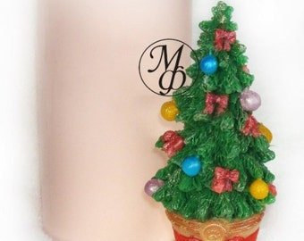 Silicone soap mold Tree in a pot