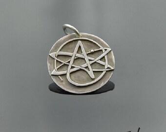 Pendant Atheizm Symbol Silver