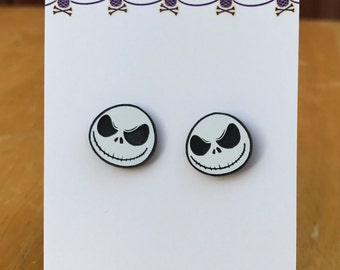 Nightmare before christmas jack skellington inspired earrings
