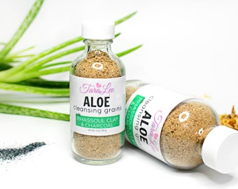 Acne Fighting Cleansing Grains, Aloe Cleansing Grains, Acne Face Wash, Exfoliate, Face Exfoliator, Cleansing Powder, Cleansing Clay
