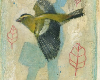 Finch [original painting]