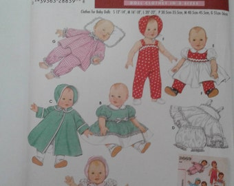 Simplicity Pattern 4707 DOLL CLOTHES fits American Girl and other 18 inch Doll