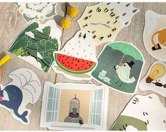 Animal Postcard Set of 30 cards S21