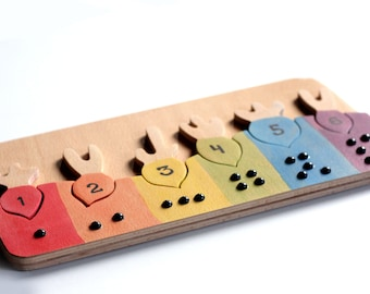 Rainbow radishes|Wood counting game,Montessori toys,Wooden toys,learn colors,counting game,  Wladorf toys, Montessori learning