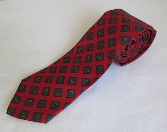 Superba Vintage Tie Necktie Red Blue Gold All Antron