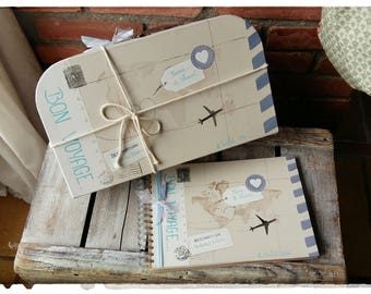 """All wedding suitcase box """""""" journey""""+ guestbook (large)"""