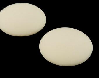 24mm Matte Cream Cabochon #UP476