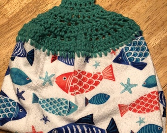 Crochet Top Dish Towel