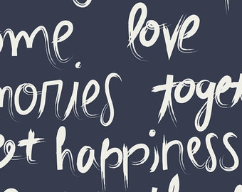 AGF CANVAS To Live By Cotton Canvas To Live By Fabric Art Gallery Decorator Fabric Cotton Canvas Love Happiness Warmth Together