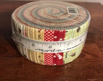 Cottontail Cottage Moda Jelly Roll Pinks, Blues and Green's Nice for Easter