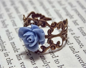 Bronze and Purple Rose Ring