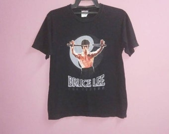 Vintage bruce lee the dragon tee shirt medium size M