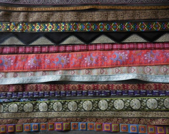 Mix designs and colors Jacquard woven Ribbon Sewing Trim LOT 15 Y