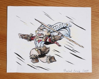 Little Adventurers - Gnome Barbarian - Painting