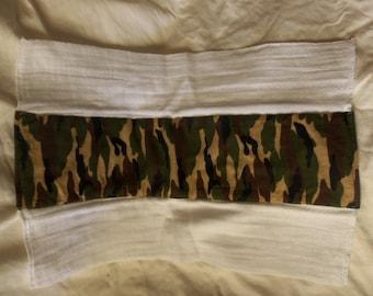 Burp Cloth, Flannel Print, 100% Cotton, Camo, Ready to Ship