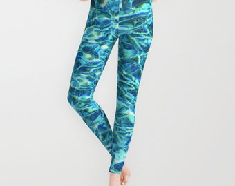 Shimmering Water Leggings, Available in 5 Sizes!