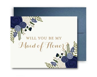Bridesmaid Cards, Will You Be My Bridesmaid Card, Ask Bridesmaid, Bridesmaid Maid of Honor Gift, Matron of Honor, Bridal Party Cards #CL132