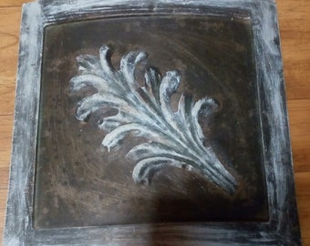 Vintage Metal Curved Wall Art..Fits on Wall ..Enough to Cover A Boo boo