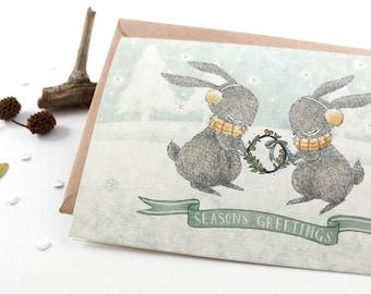 50% OFF - Christmas Card - Season's Greetings - Greeting Card