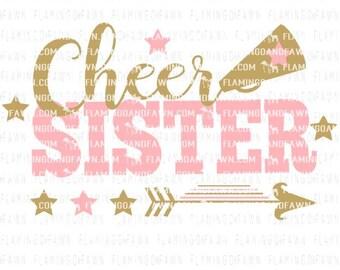 cheerleader svg, cheer svg, cheer sister svg, svg cheer, cheerleading sister svg, cheer leader svg, svg files, pom pom svg, cheer sister dxf