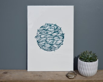The Sea // limited edition // hand pulled // screen print