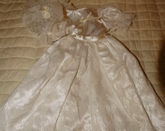 Vintage Doll Clothing, Doll White Wedding Dress, Lace Wedding Dress, Baby Doll Wedding Dress