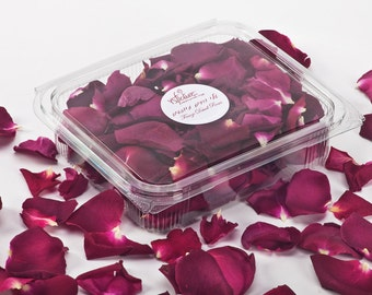 Freeze dried rose petals. Dried rose petals for decoration. 1 liter (5 cups). Buy 6 get 1 free!