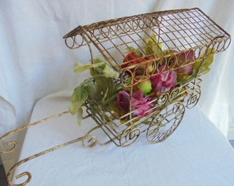 French antiques floral stall/French flower cart/metal wire decoration/curiosities