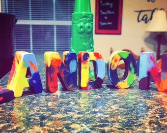 Customized Letter/Name Crayons