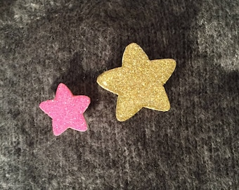 "Brooch ""Star Duo"""