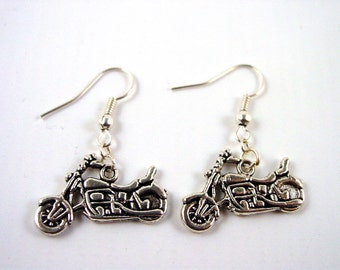 Motorbike Earrings - Motorcycle Earrings - Biker Earrings