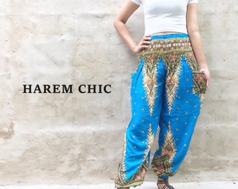 Bohemian Pants Hippie Clothes Boho Pants Gypsy Pants Tribal Pants Yoga Pants Blue