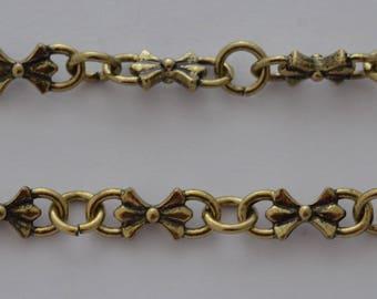 50cm chain knots color bronze antique 16.5x6.5 mm