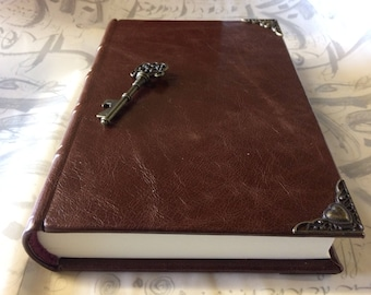 Chestnut brown leather bound journal / diary/ writing book