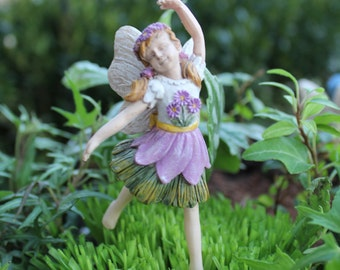 "Fairy Sophia (3.75"" Tall) Dancing in her Fairy Garden"