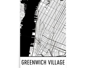 Greenwich Village Map, Greenwich Art, Greenwich Print, Greenwich NY Art Poster, Greenwich Wall Art, Map of Greenwich, Greenwich Gift, Map