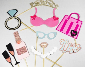 Bridal shower photobooth props 11 piece*