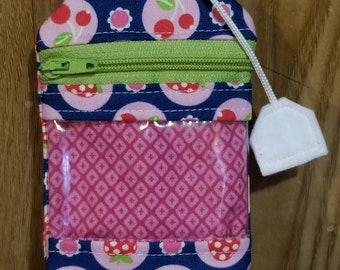 notions pouch RF tea bag for knitting crochet storage