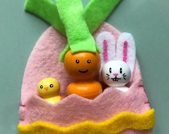 Easter Peg Doll set