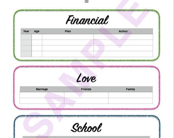 Life Binder Printable Complete Set! 12 pages of budgets and tracking!