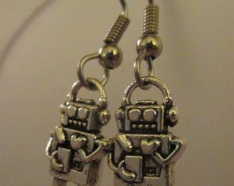 Tiny Robot Earrings