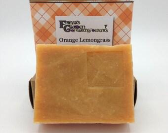 Orange Lemongrass Essential Oil Goat Milk Shea Butter Handmade Soap